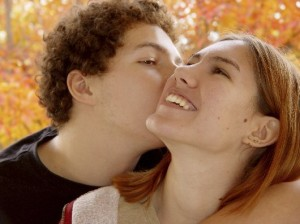 Couple Kissing in Autum MED