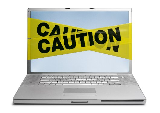 Laptop w caution tape Medium