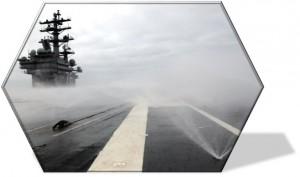 USS Reagan Washdown