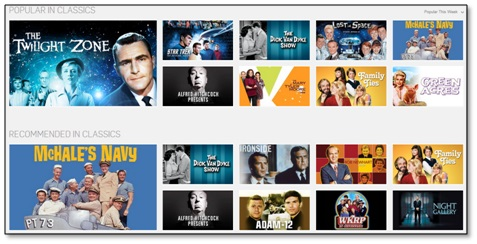 Now, HULU PLUS does have a lot of older TV shows, including such